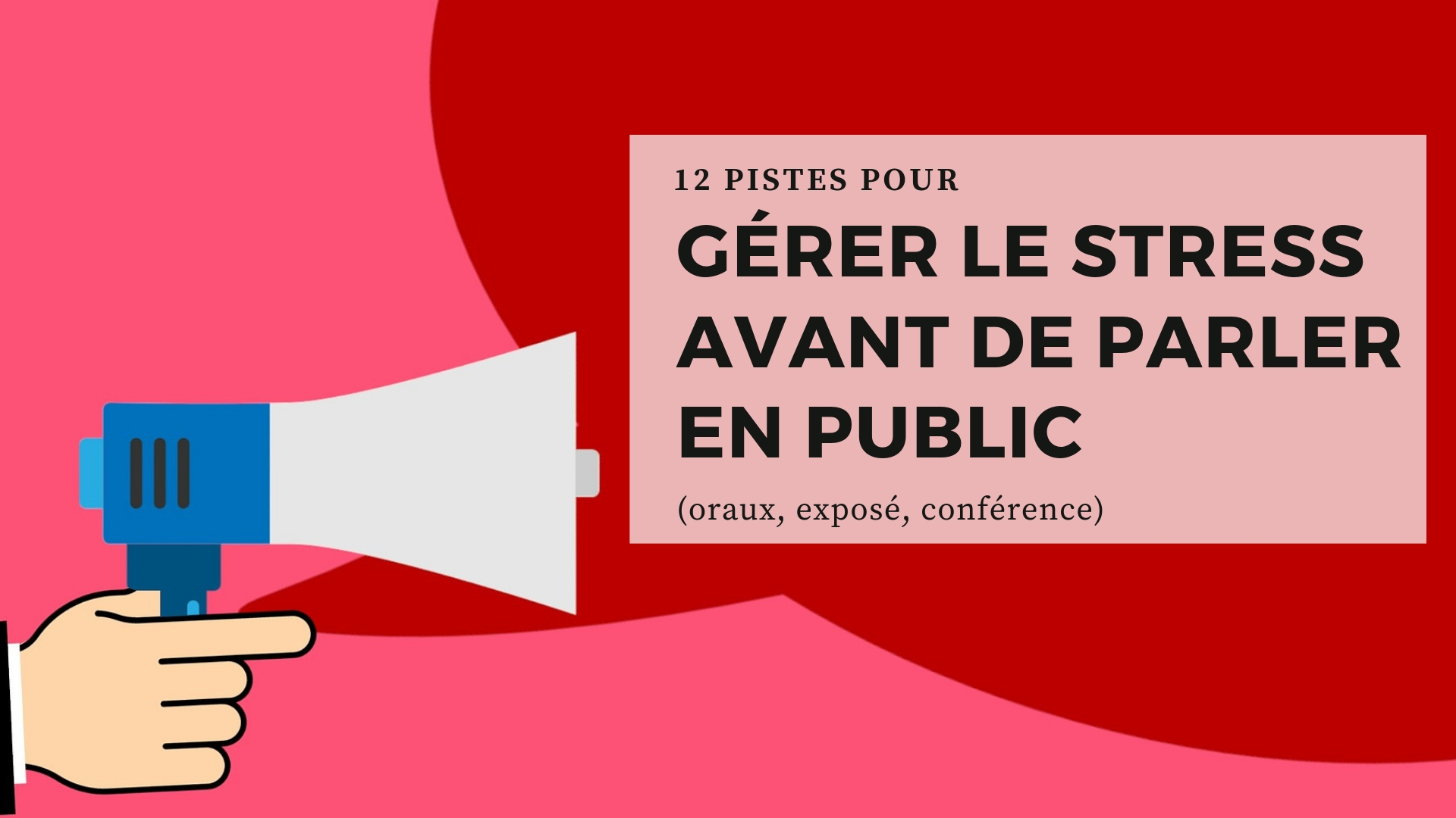 gérer stress parler en public