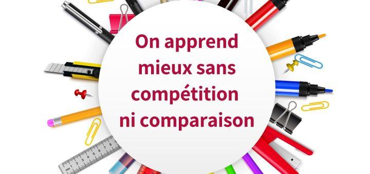 On apprend mieux sans compétition ni comparaison