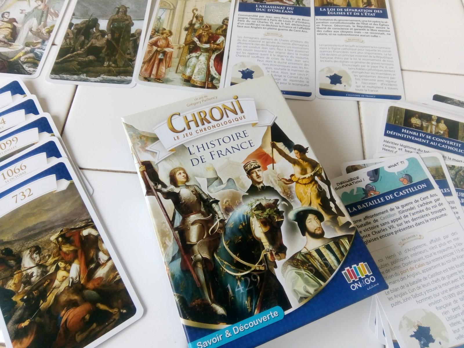 chroni jeu cartes histoire de france enfants