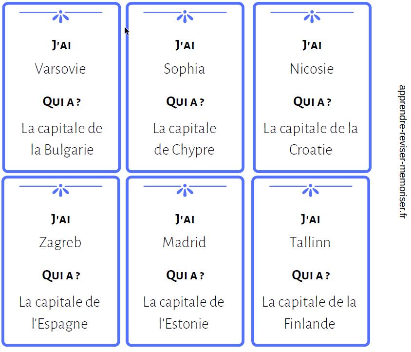 Un Jeu Pour Apprendre Le Nom Des Capitales Des Pays De L Union Europeenne Apprendre Reviser Memoriser