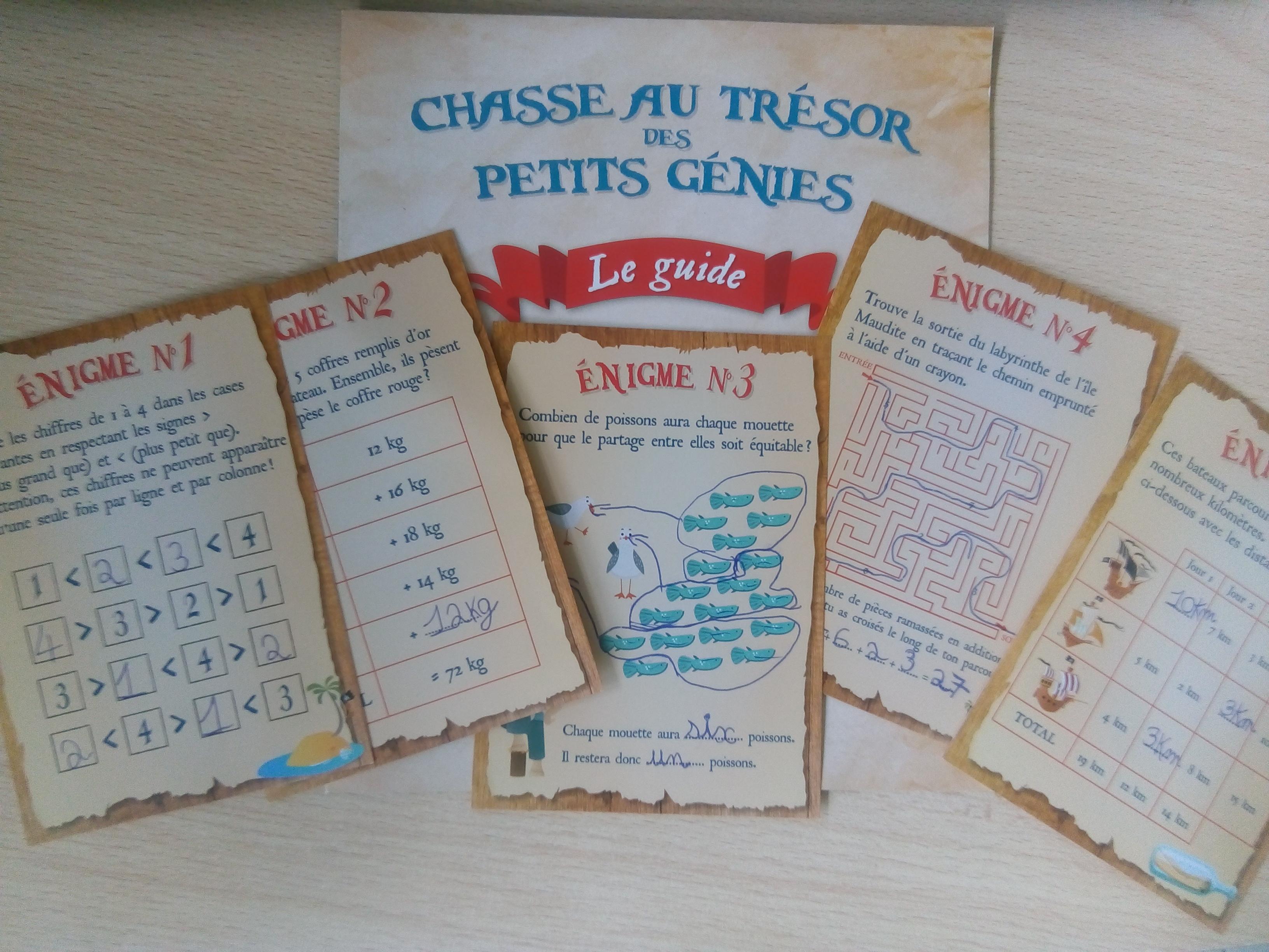 kit chasse au trésors maths enfants