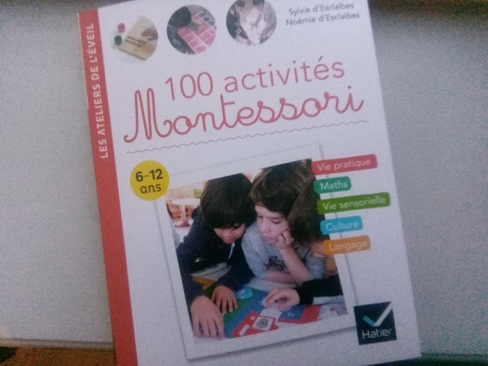 livre 100 activités montessori 6 12 ans
