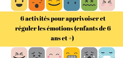 activités émotions enfants