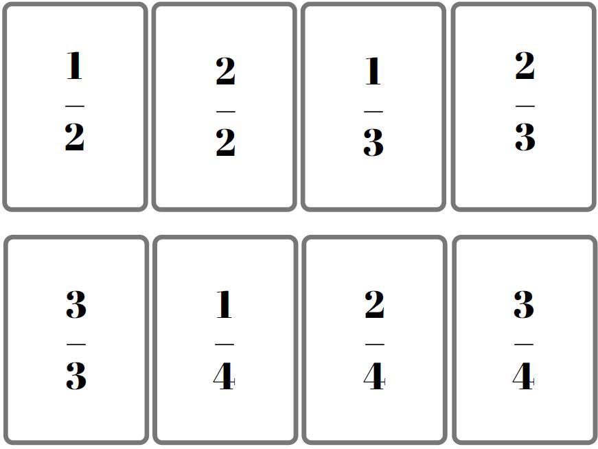 jeu de bataille des fractions enfants