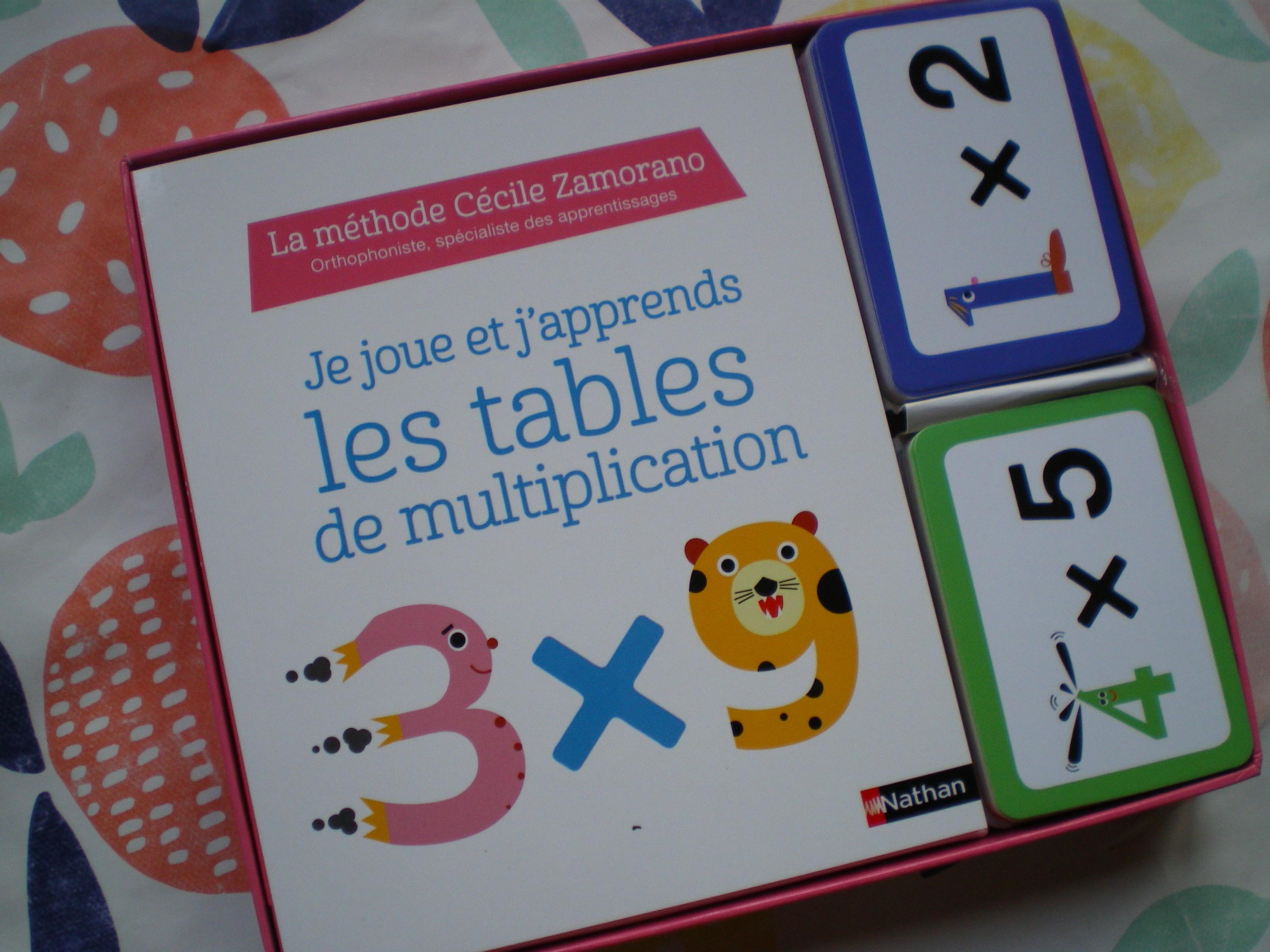 carte apprendre tables de multiplication