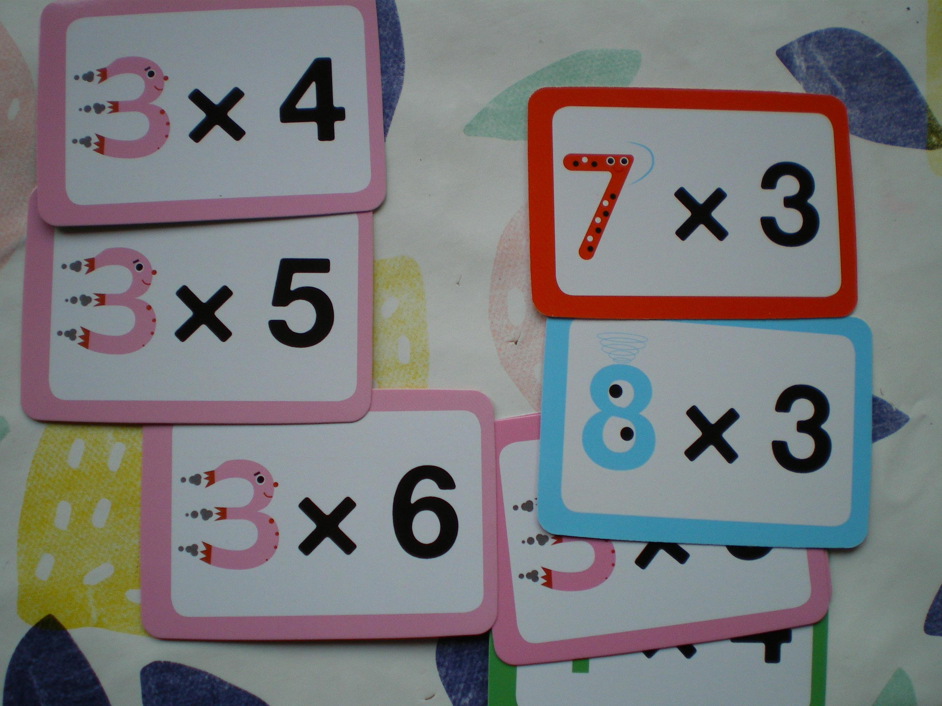cartes pour apprendre multiplication