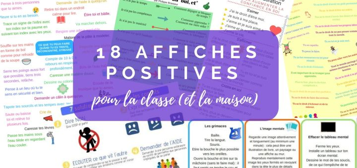 affiches positives classe