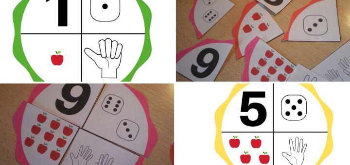roues activité numération maternelle