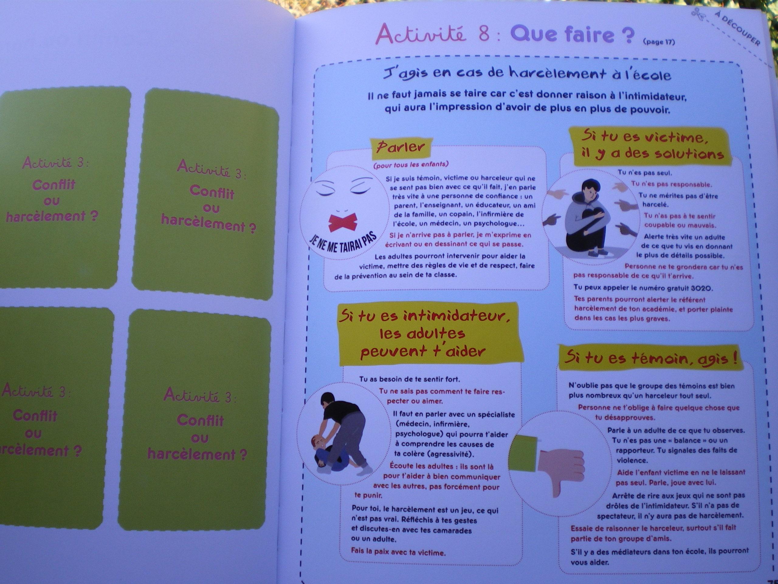 activités bienveillantes prévention harcèlement école enfants