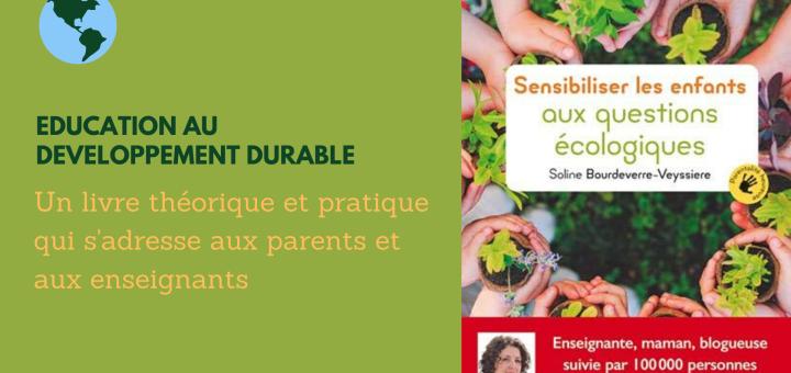 Un livre sensibiliser enfants écologie