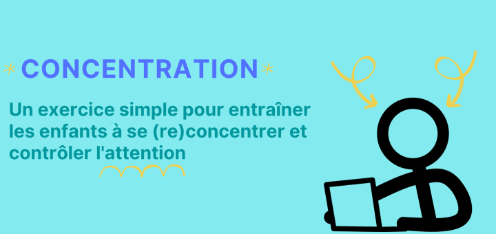 exercice simple enfants concentration