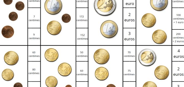 carte à pince pièces de monnaie