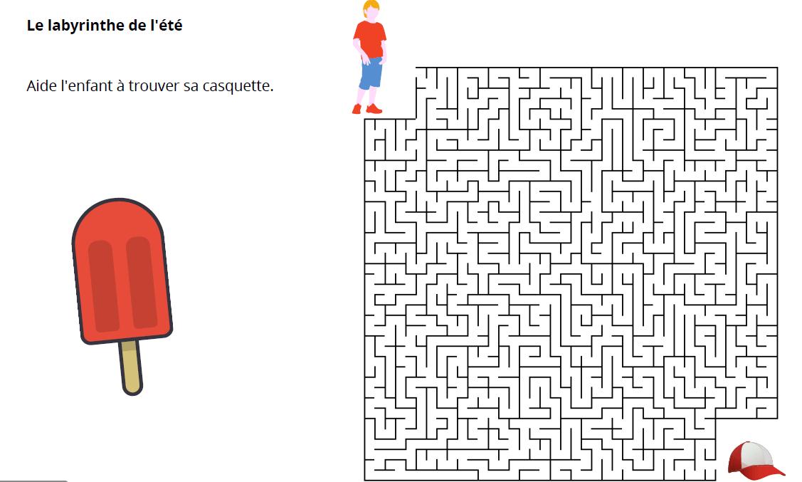 labyrinthe vacances enfants