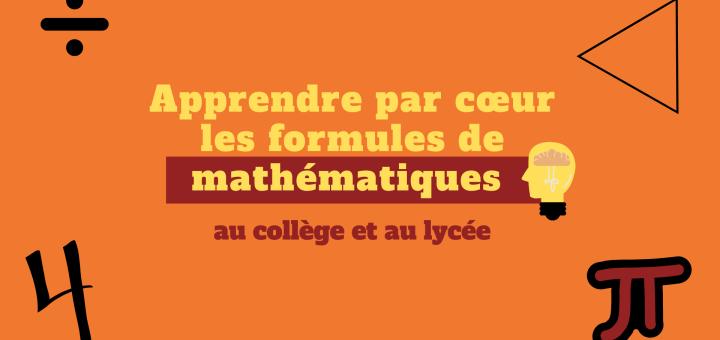 Apprendre par cœur les formules de mathématiques Lesson