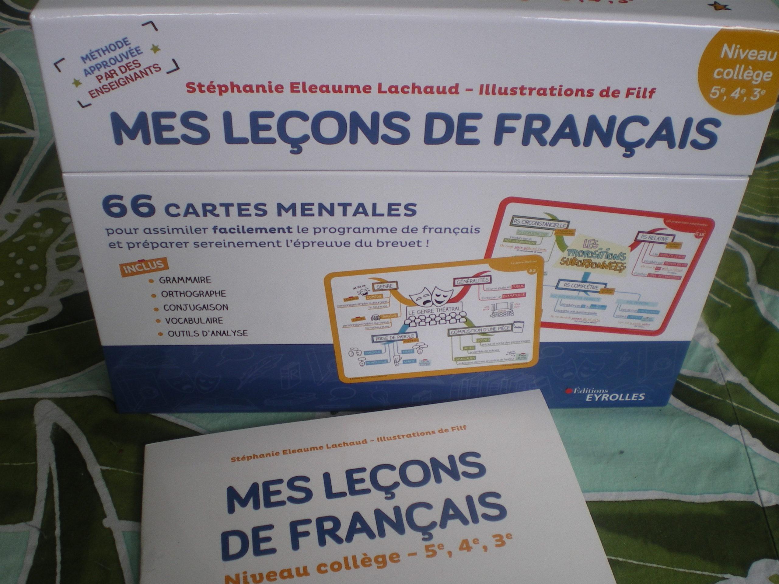 cartes mentales réviser programme de français collège