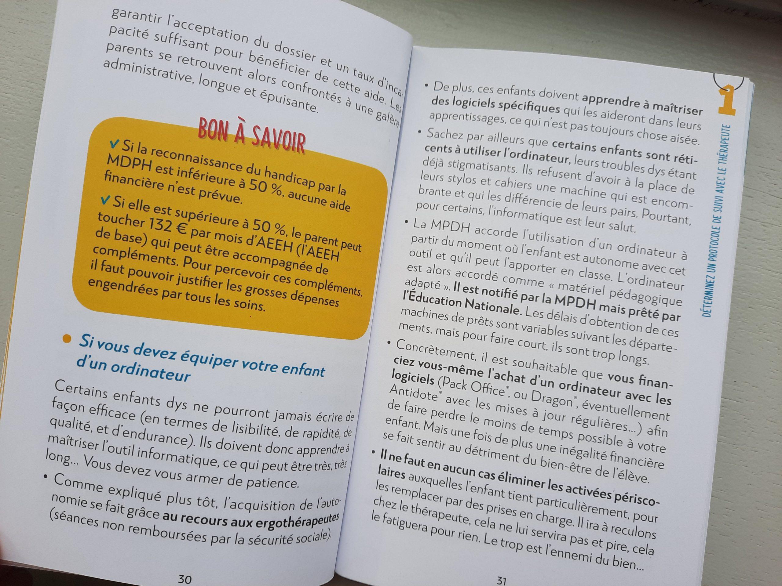 livre accompagner enfant dys école maison
