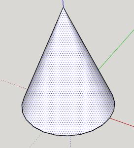 faire un cône sur Sketchup