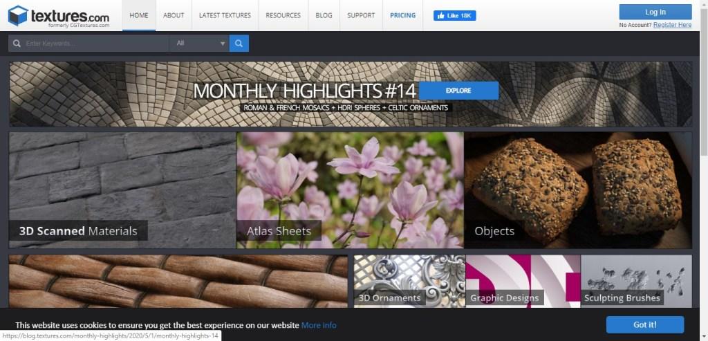 Téléchargez vos textures gratuites sur textures.com