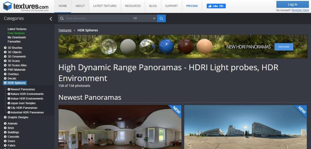 Images HDRI gratuites : textures.com