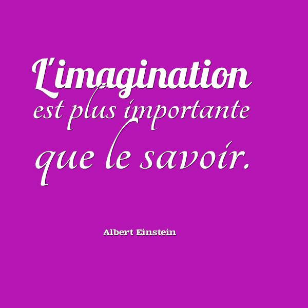 l'imagination est plus importante que le savoir