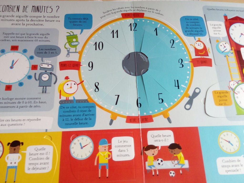 livre enfant découvrir l'heure