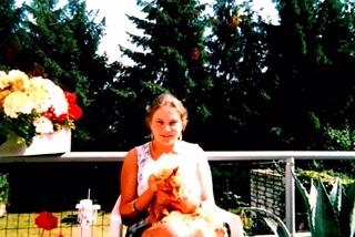 Le chat Ginger et moi dans la famille d'Oxford.