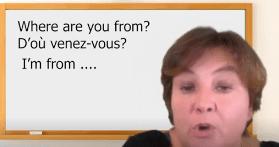 D'où venez vous en anglais