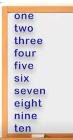 les chiffres de 1 à 10 en anglais