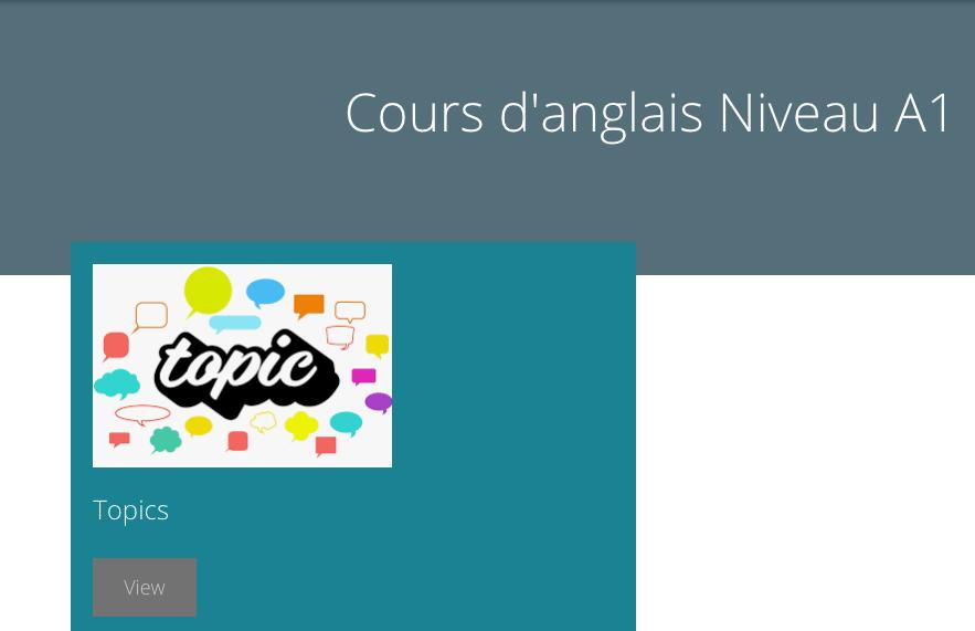 Cours d'anglais interactif expérimental pour les débutants