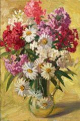 Le bouquet de marguerites. 50x70 Huile sur toile