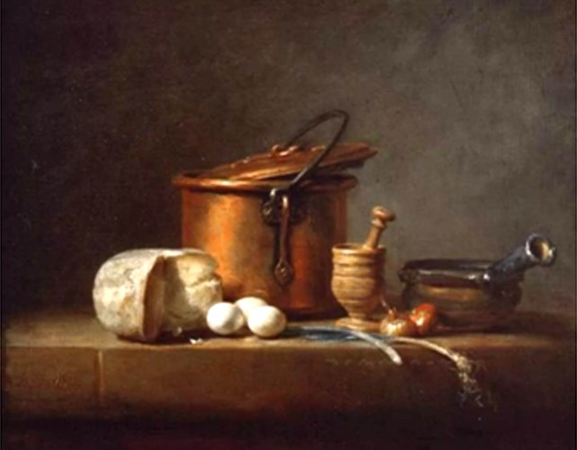Composition. Chardin. Nature morte