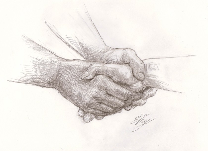 Comment dessiner les mains. Dessin final.