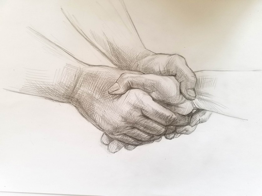 dessiner les mains. Dessin final.