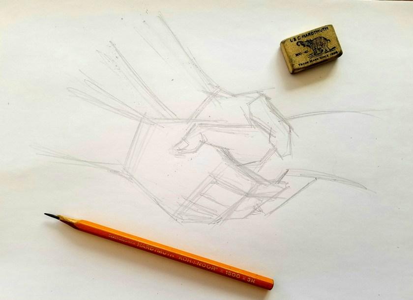 comment dessiner les mains. Début de dessin