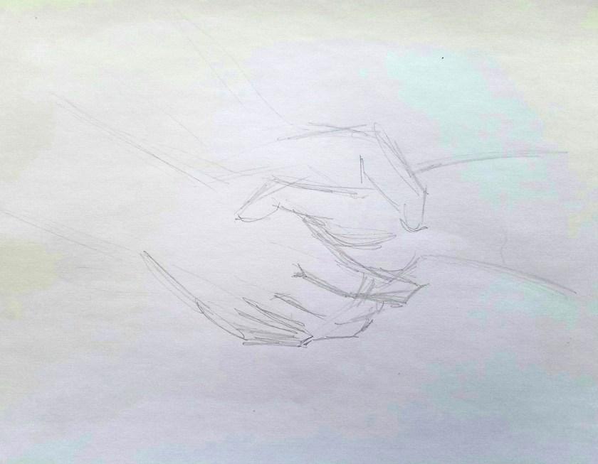 comment dessiner les mains. croquis