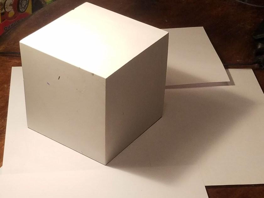 dessiner en volume cube