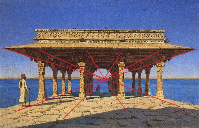 La perspective. Vassili Verechtchaguine