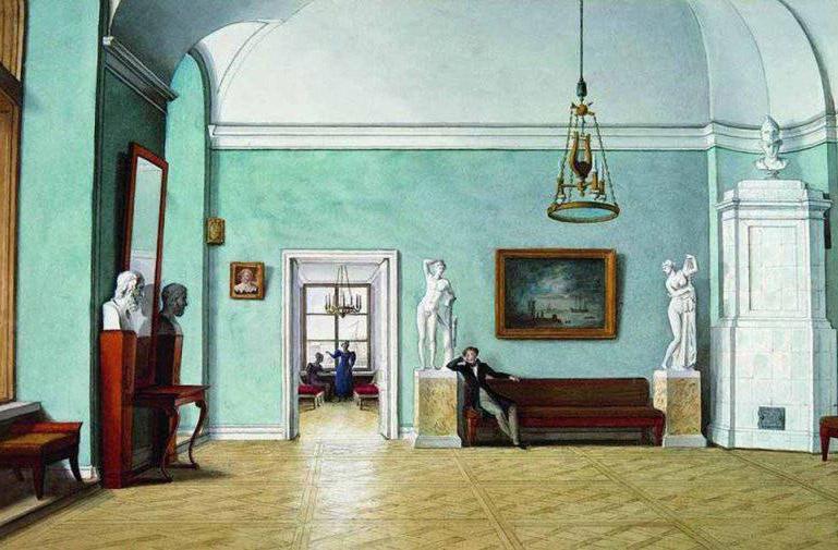 Fiodor Ivanovitch Tolstoï. Comment construire un carrelage en perspective frontale
