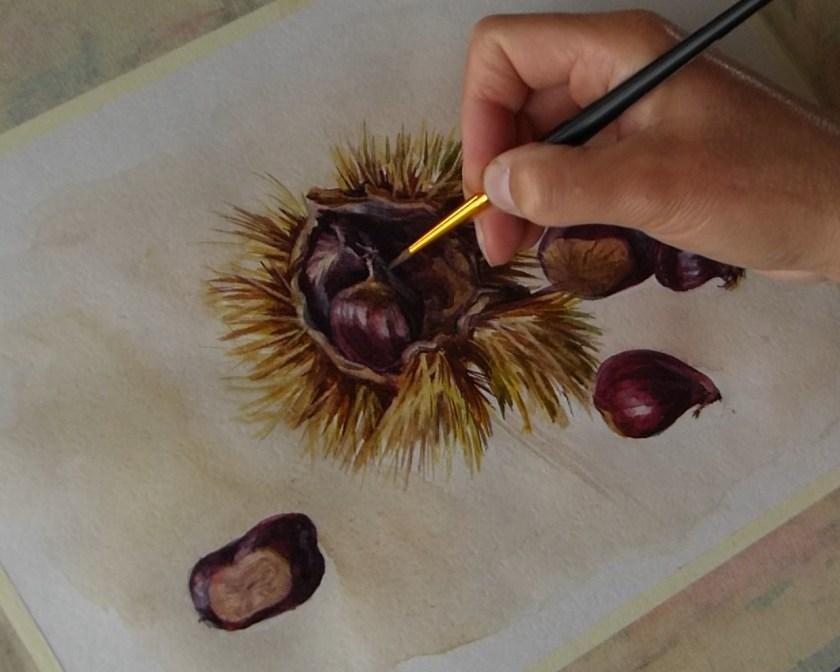 peindre à l'aquarelle  une nature morte