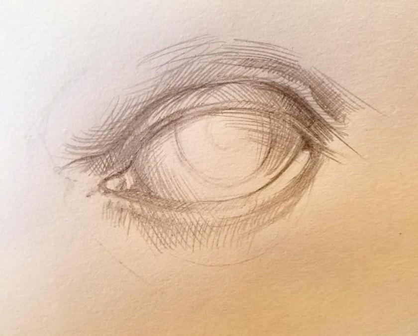 Comment dessiner des yeux. Le volume des grandes formes.