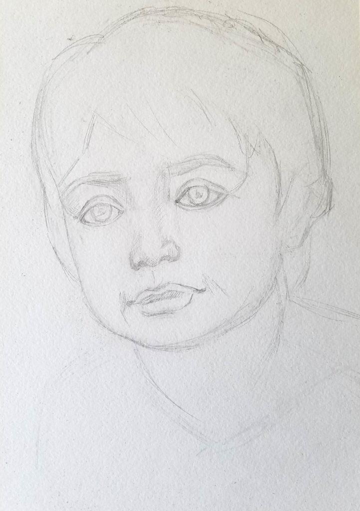 portrait d'un enfant. Les proportions