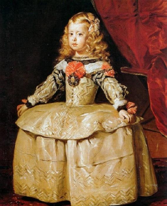 L'infante Marguerite en robe blanche.(1657)