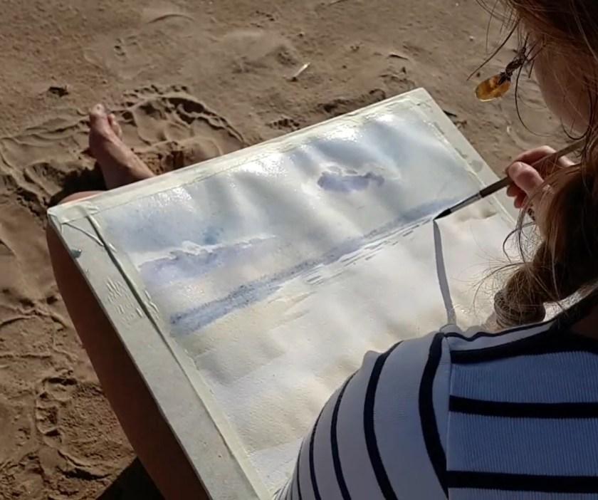 Peindre les reflet sur la mer