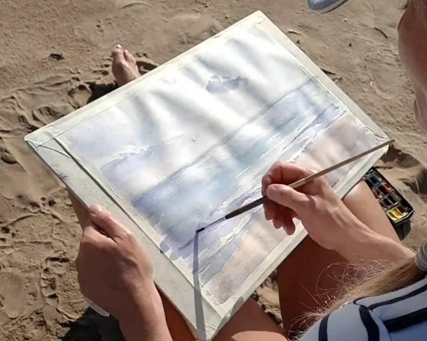 Comment commencer à peindre la mer