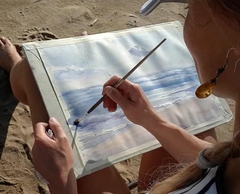 comment peindre l'écume