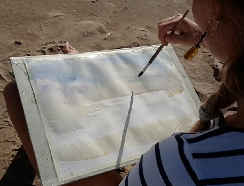 Par quoi commencer à peindre la mer