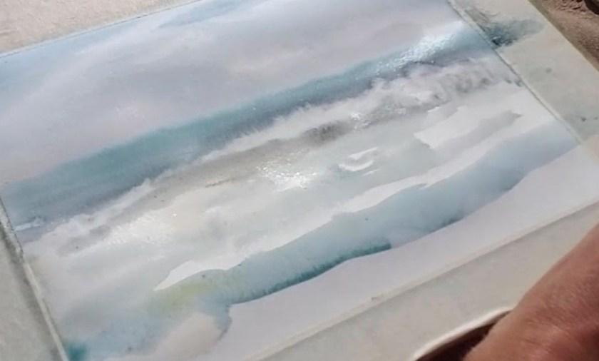 Téchnique commet peindre l'écume sur les vagues