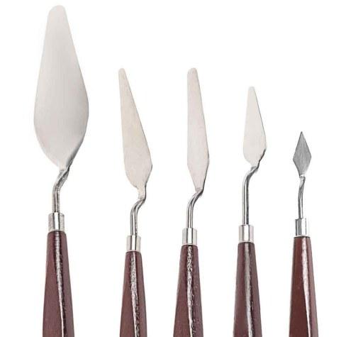 Couteaux pour peindre à l'huile
