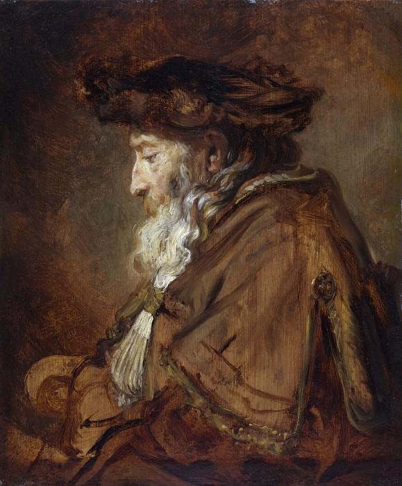 Portrait Rembrandt. L'example d'utilisation Imprimatura