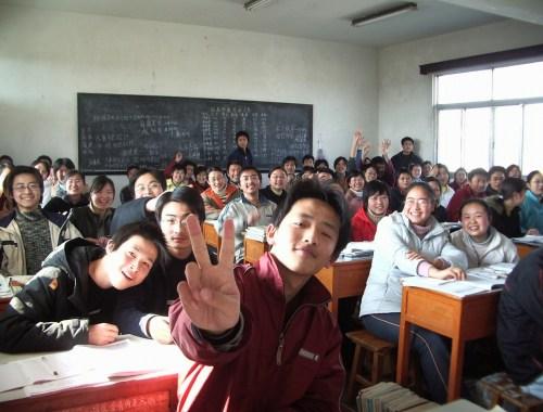 Des élèves coréens dans une classe